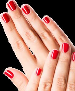 Курсы маникюр, педикюр в школе красоты у Оксаны Демченко (Киев), фото красных ногтей